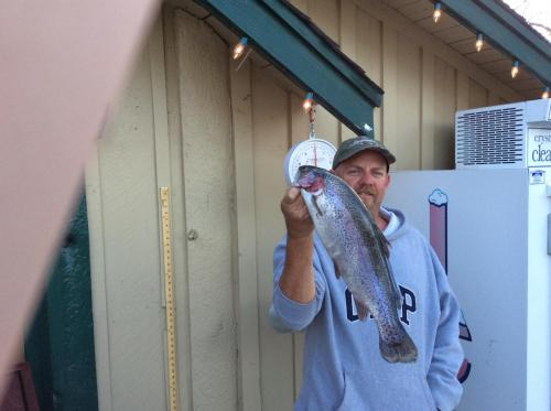2018-05-05 18.46.47Mike Garding 3.5 Lb Rainbow on Yellow Powerbait south shore from Canyon Country