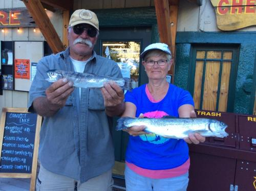 Marie and Jim Conners caught these N Shore on powerbait they are from Poway, CA